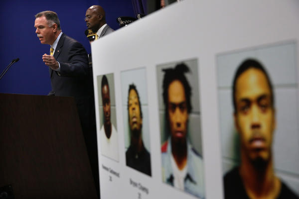 Chicago Police Superintendent Garry McCarthy announces the arrest of four offenders charged with the shooting at Cornell Park last weekendand.
