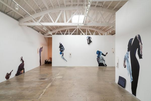 An installation view of Bettina Hubby at Klowden Mann gallery.