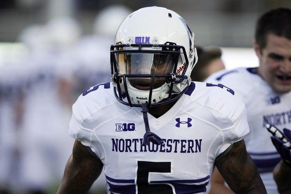 Northwestern running back Venric Mark is back at practice.