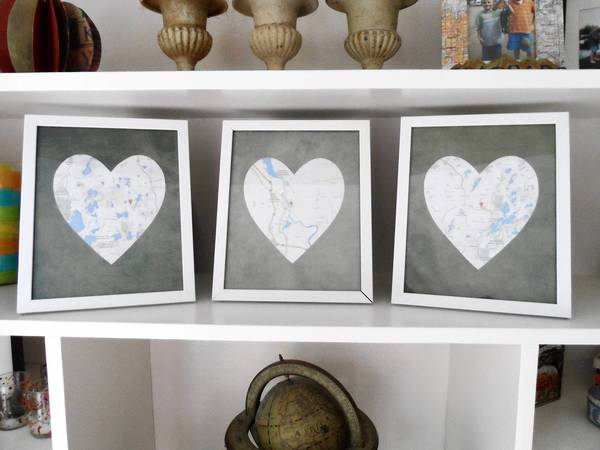 Chart the course of your romance with this DIY frame