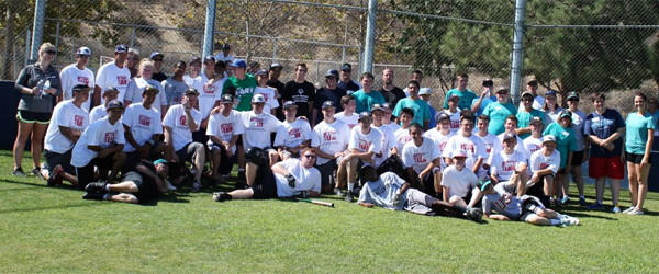 A group of mostly West Ranch baseball players recently held a soft skills clinic and scrimmage for the Special Olympics Sharks softball teams.