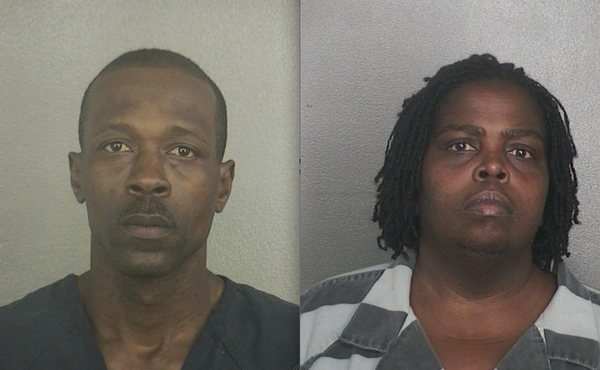 Andrew Robinson, 36, & Rhonda McDonald, 40, are accused of burglarizing more than 80 truck batteries from Davie businesses