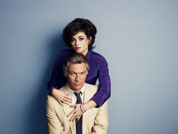 "From the telefilm ""Burton and Taylor,"" Helena Bonham Carter as Elizabeth Taylor and Dominic West as Richard Burton"