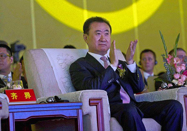 Wang Jianlin, the wealthiest man in China, is chairman of Dalian Wanda Group, which owns theater chain AMC Entertainment. The movie business is increasingly reliant on the international marketplace. Above, Wang attends an event at a Beijing hotel.