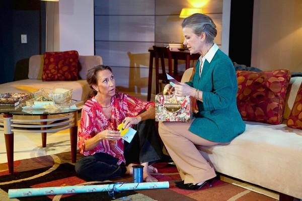 "Marion Marsh (left) and Marty Stonerock star in ""Other Desert Cities"" at Mad Cow Theatre."