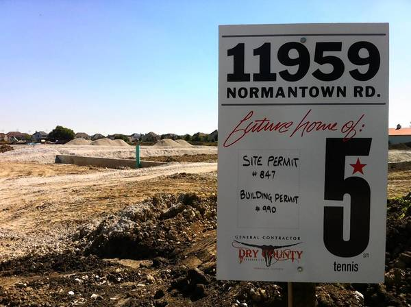Construction has started on the Five Star Tennis Center, which will open in January on Normantown Road in Plainfield.