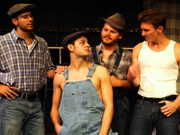 "Brandon Lopez, Logan Curran, Timmy Walczak and Cameron Hentz are among the actors in ""The Grapes of Wrath."""