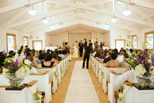 A wedding is held at Glenview's Schram Memorial Chapel in 2011.