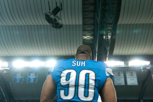 Lions defensive tackle Ndamukong Suh has become a favorite villan in the NFL.
