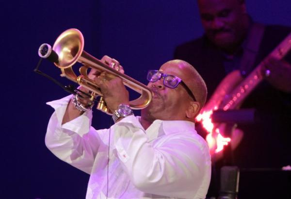 Trumpeter Terence Blanchard performs with Dr. John at the Hollywood Bowl this summer.