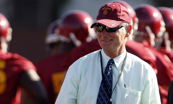 USC Athletic Director Pat Haden has not indicated that the university will look to soften its own NCAA-issued penalties in the wake of Penn State being allowed to restore some of its scholarships.