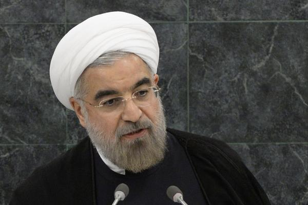 Hassan Rouhani, President of the Islamic Republic of Iran, addresses the audience during the 68th session of the United Nations General Assembly in New York.