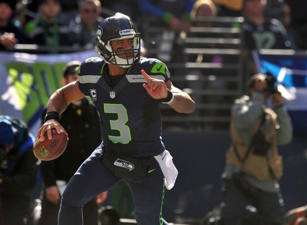 Quarterback Russell Wilson and the Seahawks top this week's rankings.