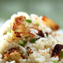 Rice with roasted cauliflower