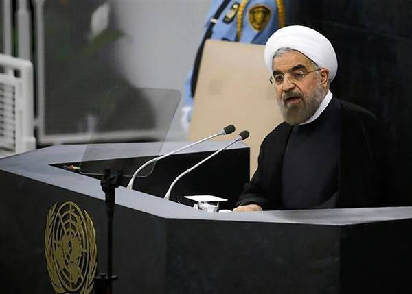Iran President Hasan Rouhani addresses the 68th United Nations General Assembly in New York on Tuesday.