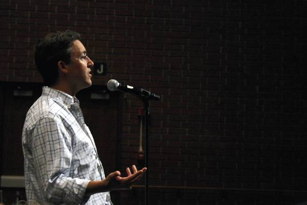 Northbrook resident Todd Speed said he doesn't know where he stands on the issue of the Wal-mart proposal in Northbrook during the Sept. 23 plan commission meeting.