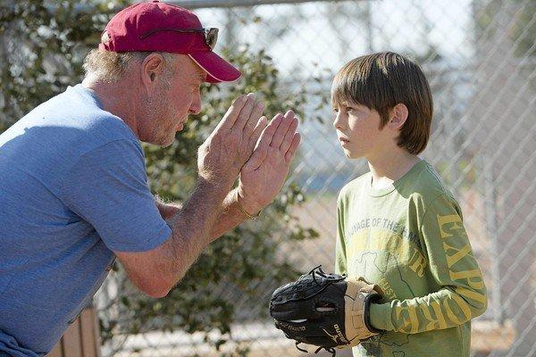 "James Caan, left, and Griffin Gluck star in ""Back in the Game."""