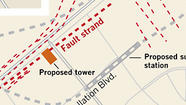 Apparent fault under planned tower