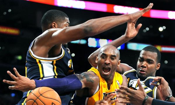 Will Kobe Bryant and the Lakers finish ahead of the Utah Jazz in the Western Conference standings this season?
