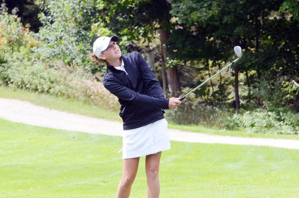 Harbor Springs' Abby Detmar finished tied for second with a 42 Tuesday at the Forest Dunes Invitational hosted by Grayling. The Rams placed third in the eight-team event.