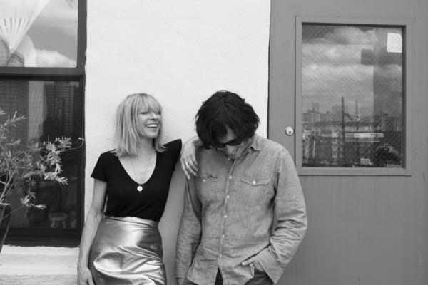 Musicians Kim Gordon and Bill Nace.