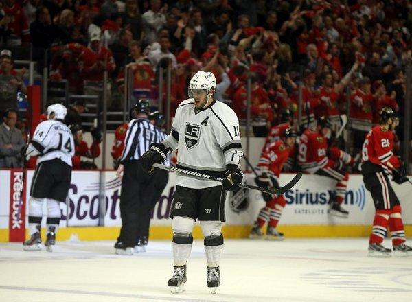 """When I'm out on the ice I'm not thinking, 'Shoot.' I'm making the play that I think is the best at that particular moment,"" says Anze Kopitar, shown in last season's Western Conference finals against the Chicago Blackhawks."