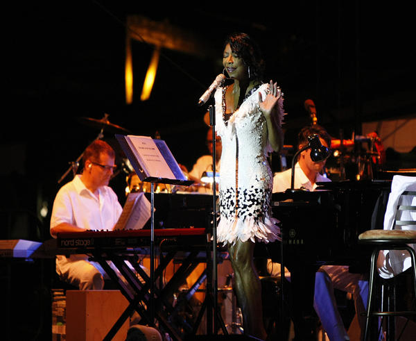 Natalie Cole, shown performing at last summer's Newport Jazz Festival, is among this year's Latin Grammy award nominees for her first Spanish-language album.