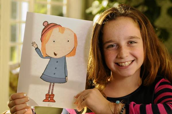 "Hayley Faith Negrin of Weston is the voice of Peg on the new PBS kids show ""Peg   Cat,"" which premeires Oct. 7."