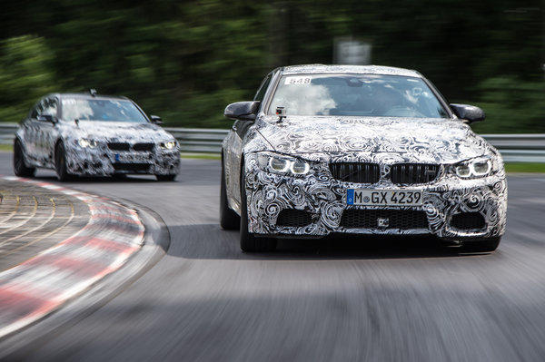 The 2015 BMW M3 sedan and M4 coupe will have a twin-turbocharged inline six-cylinder engine that makes about 430 horsepower and 369 pound-feet of torque.