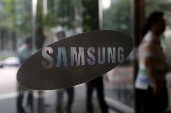 Samsung said a smartphone with a curved display will launch next month.