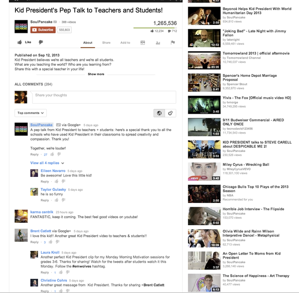 YouTube has changed the way comments work on its service. Above is a screenshot of how the new comments look.