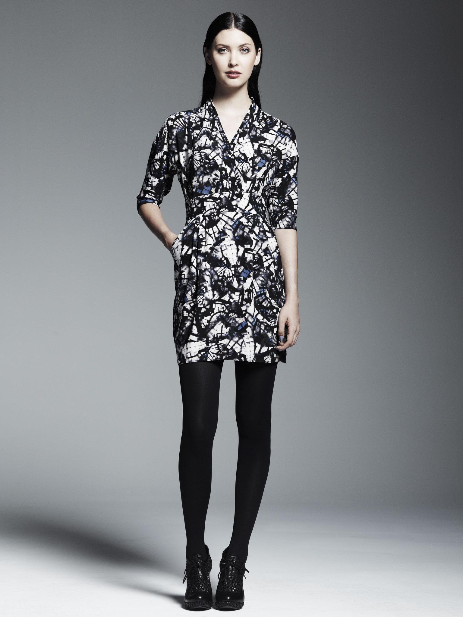 Kohl's Black Wrap Dress