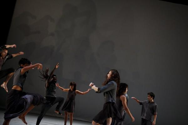 "Dancers in David Rousseve's latest dance-theater piece, ""Stardust,"" at REDCAT."