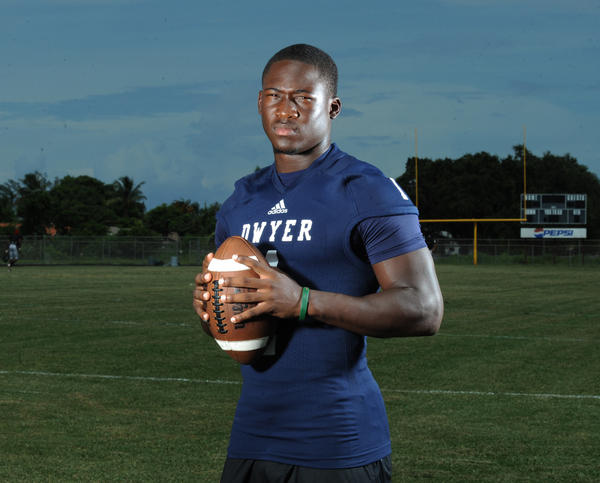 Dwyer's Johnnie Dixon is one of quarterback Daniel Parr's favorite targets.