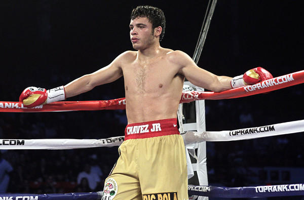 Julio Cesar Chavez Jr. in 2011. He's having trouble making the 168-pound limit set for his fight Saturday against Brian Vera at StubHub Center.