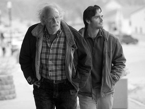 "Still of Bruce Dern and Will Forte in the movie, ""Nebraska."" Credit: Paramount Pictures"