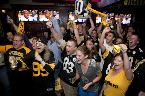 Steelers fans at Pros