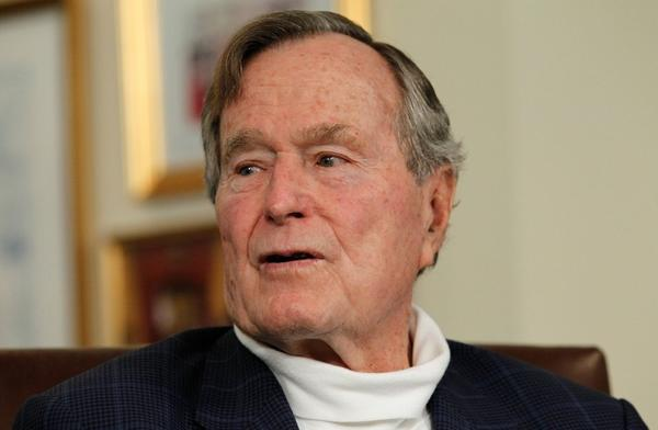 Former president George H.W. Bush signed as a witness for a same-sex couple's marriage in Maine over the weekend.