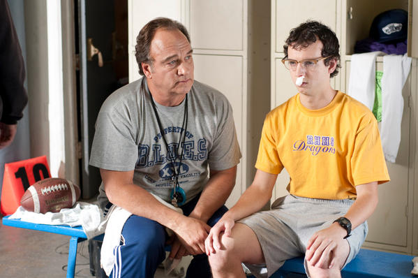 "Jim Belushi (left) and Gaelan Connell star in ""The Secret Lives of Dorks."""