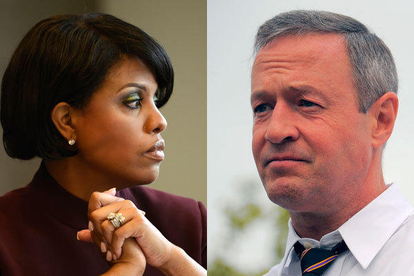 Mayor Stephanie Rawlings-Blake and Gov. Martin O'Malley.