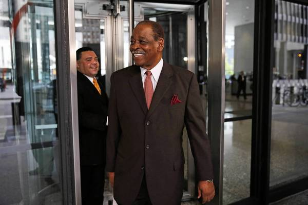 "Former Cook County Commissioner William Beavers seemed to smirk, or at least half-smile, when U.S. District Court Judge James Zagel sentenced him to six months in prison. He certainly didn't beg. ""I don't beg my woman, so you know I wasn't gonna beg the judge, all right?"" he said."