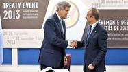 U.S. signs treaty to restrict arms trade