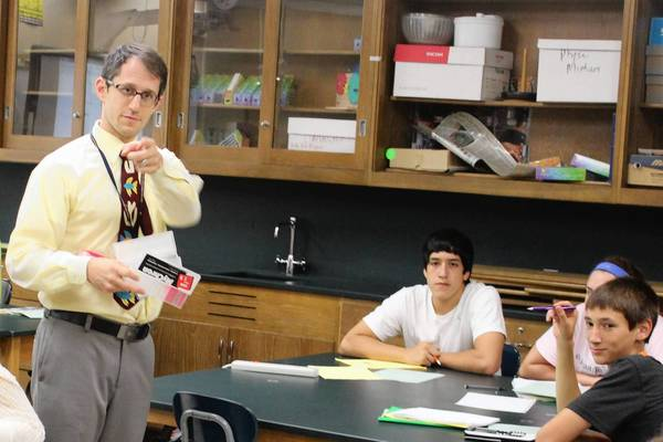 Aaron Podolner teaches physics at Oak Park and River Forest High School. His new book asks future teachers how they would handle challenging situations in the classroom.