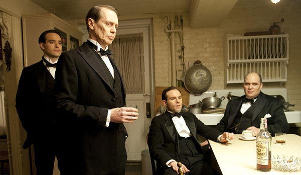 """Charlie Cox, Steve Buscemi, Anatol Yusef and Glenn Fleshler, left to right, star in """"Boardwalk Empire."""""""