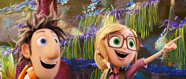 "A scene from ""Cloudy with a Chance of Meatballs 2,"" which is expected to top the box office this weekend."