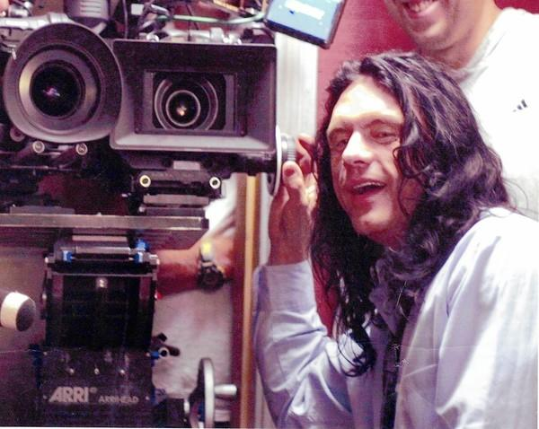 "Tommy Wiseau and his ""big Hollywood thing"" — the two-camera setup."