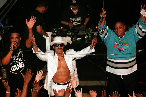 "The group ""Sugar Hill Gang"" performs at the Subterranean."