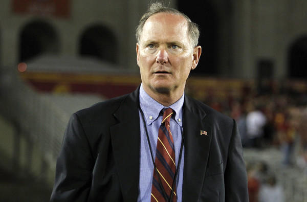 USC Athletic Director Pat Haden said the recent meeting with NCAA officials had been scheduled before the governing body announced a restoration of scholarships for Penn State.