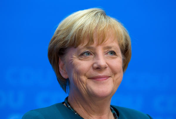 Angela Merkel, Germany's chancellor and party leader of the Christian Democratic Union.