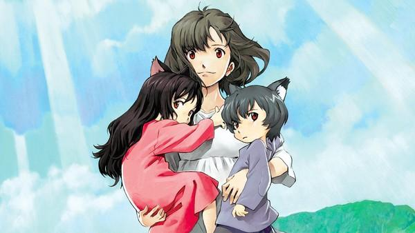 "Hana is left to take care of her half-human, half-lupine kids alone in ""Wolf Children."""